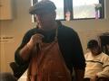 Brother Steve Baunach leads prayer